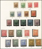 Lot 7 [3 of 4]:Barbados 1860s-1978 Collection incl range of Britannias, Colony Seals, 1897-98 Jubilee 8d, 1905 6d, 1906 Nelson to 1/- (ex 2d), 1916-19 most to 3/-, 1918-20 3/-, 1920-21 Victory various to 1/-, 1921-24 to 3/-, 1938-47 to 1/- (MLH), to 5/- used, 1948 Wedding 5/- (2, one used), 1950 Picts (12), 1965 Marine Life (both 3c), 1968 E.C.L.A. 15c variety short 'L' in MUH block of 4, 1969 Scouts M/S, etc. High Cat value. Generally very fine. (670+ & 4 M/S)