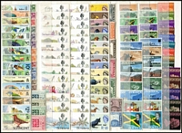 Lot 16 [2 of 3]:British Commonwealth 1960s-70s with strength in BWI definitive sets, Southern Africa, British Atlantic & Indian Oceans. Various shade & opt variations. Very fresh MUH throughout. STC £830+. (100s)