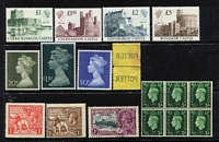 Lot 11 [1 of 3]:British Commonwealth accumulation incl Canada with few early Queens to 15c, Ceylon 1904 PPC to NSW, Gilbert & Ellice 1935 Jubilee 1/-, Great Britain KEVII 3d (60+) incl some perfins, 1924 Wembley (3 sets, two MLH), 1925 set used, 1929 PUC (4, plus ½d wmk inv), few KGVI wmk s/ways or inv incl 1937-47 ½d dark green, wmk inv block of 6 (5 units MUH), 1938-48 10/- dark blue, later Castles to £5, plus few 'ARMY' & 'I.R.' Officials Guernsey incl 1979-83 £1, £2 & £3, plus 1984-91 Scenes (25), 1987-88 Coils, (4), also selection of Alderney & 20 different Charles & Di Wedding sheetlets. Mixed condition. (100s)