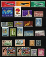 Lot 11 [3 of 4]:British Commonwealth Collection on 13 Hagners incl Antigua 1970-75 Ships (17, MUH), AAT 1966 $1 (2, one MUH), Falkland Islands, Hong Kong, Ireland, Mauritius 1969-73 Sea Life (18, MUH), Nauru, New Zealand, Norfolk Island 1970-71 Birds (15, MUH), Nyasaland 1953-54 5/-, 10/- & 20/- (mint), Pitcairn Islands KGVI 4d & 8d (mint), etc. STC £415++. Generally fine. (300+)