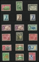 Lot 14 [2 of 4]:British Commonwealth QEII Definitives on 15 Hagners incl Ascension 1956 (13), Br. Solomons 1956-63 (17), Fiji 1954-59 (15), 1959-63 (13), 1962-67 (13), Gilbert & Ellice Islands 1956-62 (12), Pitcairn Islands 1957-63 (12 incl both 4d), St. Helena 1953-59 (13), Tristan Da Cunha 1954 (14), 1960 (14), 1961 (13), 1963 Resettlement (13), Tonga 1953 (14). Several sets have additional shades. Cat £1,040+ (180+)