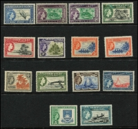 Lot 14 [3 of 4]:British Commonwealth QEII Definitives on 15 Hagners incl Ascension 1956 (13), Br. Solomons 1956-63 (17), Fiji 1954-59 (15), 1959-63 (13), 1962-67 (13), Gilbert & Ellice Islands 1956-62 (12), Pitcairn Islands 1957-63 (12 incl both 4d), St. Helena 1953-59 (13), Tristan Da Cunha 1954 (14), 1960 (14), 1961 (13), 1963 Resettlement (13), Tonga 1953 (14). Several sets have additional shades. Cat £1,040+ (180+)