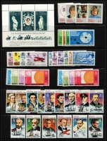 Lot 19 [2 of 2]:British Territories incl B.A.T. 1973-81 Explorers (15), and several commem sets; B.I.O.T. 1968-70 Marine Life several values incl 5r & 10 r on piece, 1975 Bird (14, ex 95c), 1975 Wildlife (2 sets). (50+)