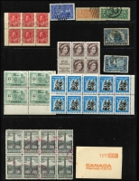 Lot 18:Canada 1870s-1970s Accumulation incl few QV Heads, KGV defins used to $1, 1928-29 Bluenose, range of KGV, KGVI & QE Coils, booklet panes, Special Deliveries, Postage Dues, etc. Numerous defins throughout. Mixed condition. (100s)