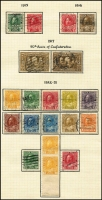 Lot 20 [1 of 3]:Canada 1880s-1953 Collection incl few QV & KEVII, KGV 1922-31 Coil Stamp 1c Chrome-yellow vertical pair imperf between horizontally,1927 Confederation (8), 1932 Ottawa Conference, 1933 Grain Conference, 1934 Loyalists, 1935 SIlver Jubilee, 1935 Picts (11), 1937-38 Picts (11), 1942-48 War Effort (14), few coils, etc. Generally very fine, many with cds. (225+)