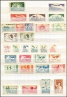 Lot 22 [2 of 6]:China 1898-1968 Collection in 64 page Lighthouse stockbook, few earlies, numerous 1940 opts, Postage Dues, various Communist China issues, range of 1949-50s reprints, 1963 Butterflies (10) to 50f (all no gum), 1963 Hwangshan Landscapes (16, CTO), 1964 People's Anniv strip of 3 (CTO), Petroleum Industry (5, hinged), 1968 Revolutionary Literature & Art 8f Ballet & 8f Orchestra used, (July) 8f Directive used. Also few Taiwan issues. Many issues are without gum as issued. Generally fine. (1,300+)