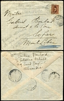 Lot 28 [2 of 5]:Cover Collection from China, Egypt 1935 cover missent to Sophia (b/s, Bulgaria) instead Sofar, Mount Liban, Gold Coast, Hungary 1940 illustrated meter cover, Iceland, Luxembourg, State of Oman (& few Dhufar ! FDCs), St. Vincent, San Marino, Sudan, Sweden 1938 airmail cover with 'CENSUROVANO' handstamp to Czechoslavakia, Thailand, Trinidad & Tobago, Vatican. Generally fine. (Approx 100)