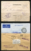 Lot 29 [1 of 2]:Covers incl Australia & Territories, Barbados 1960s autographed 'Garfield Sobers' PPC, Fiji, Germany 1942 Censored POW letter to Australia, Great Britain 1939 1st East to West Regular Transatlantic Air Mail Service cover to New York, New Zealand, few Flight covers, also range of Official Philatelic Bureau covers from Barbados, Belize, Bermuda, Botswana, Christmas Island, Fiji, Finland, Gibraltar, Gilbert & Ellice, Malta, New Zealand, Solomon Islands. Generally fine. (Approx 150)