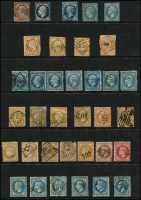 Lot 35 [1 of 2]:France 1840s-70s Selection of 'Repub Franc' (26), 'Empire Franc' (22) or 'Empire Francais (13) issues. Some postmark interest. Very mixed condition. (62)
