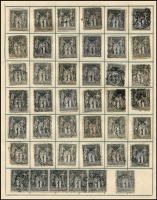 Lot 40 [3 of 3]:France 1870s-1914 Accumulation with range of 'Empire' & 'Repub' Head issues to 80c (3), 1876-90 Peace & Commerce 1c (252, incl strip of 5 with 'St. Omer' cds), 2c (148), 5c (50) 15c (100), 75c (2), 1f (2), 1914 Red Cross 5c Surcharge (5), Red Cross 10c +5c (5), various 1922 War Orphan's Fund. Mixed confition. (630+)