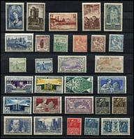 Lot 36 [2 of 4]:France 1902-40s Collection incl 1902 Mouchon 15c, 20c & 25c, 1917-19 War Orphans' Fund to 50c +50c, 1922 War Orphans' opts 2½c on 5c to 1f on 5f, 1938 Ader, many better commems. Generally fine. Cat £2,600+. (150+)