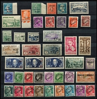 Lot 36 [1 of 4]:France 1902-40s Collection incl 1902 Mouchon 15c, 20c & 25c, 1917-19 War Orphans' Fund to 50c +50c, 1922 War Orphans' opts 2½c on 5c to 1f on 5f, 1938 Ader, many better commems. Generally fine. Cat £2,600+. (150+)