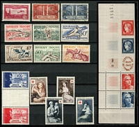 Lot 40 [1 of 4]:France 1930s-60s Commems in album, many better singles & sets. (Few 100)