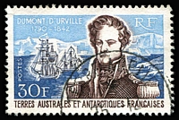 Lot 36:French Southern & Antarctic Territories 1968 Dumont D'Urville Commemoration 30f SG #44, fine used, Cat £140.