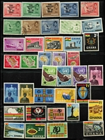 Lot 21 [2 of 4]:G Countries on 50+ Hagners or Varios with Ghana, Guinea, Guernsey various to £2, few M/Ss or sheetlets, Grenada & Grenadines (incl Disney). (100s)