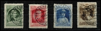 Lot 52:Liechtenstein 1929 Accession of Prince Francis I, cds cancels. (4)