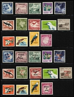 Lot 60 [2 of 3]:Pacific Islands incl Cook Islands, Fiji, Gilbert & Ellice KGV 2/-, 2/6d, 5/-, Nauru 1954 Picts (9), 1966 Picts (14), 1968 Pict Opts (14), Niue 1950 Picts (10), Norfolk Island, Pitcairn Islands 1940-51 4d & 8d (MUH), Samoa 1921 Huts (16), Br. Solomon Islands 1922-31 2/-, Tonga, also MUH Christmas Island 1958 Defins (10), 1963 Picts (10). Condition is mixed. Several issues have no gum. (500+)