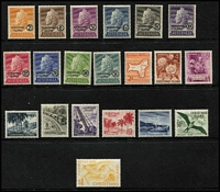 Lot 60 [3 of 3]:Pacific Islands incl Cook Islands, Fiji, Gilbert & Ellice KGV 2/-, 2/6d, 5/-, Nauru 1954 Picts (9), 1966 Picts (14), 1968 Pict Opts (14), Niue 1950 Picts (10), Norfolk Island, Pitcairn Islands 1940-51 4d & 8d (MUH), Samoa 1921 Huts (16), Br. Solomon Islands 1922-31 2/-, Tonga, also MUH Christmas Island 1958 Defins (10), 1963 Picts (10). Condition is mixed. Several issues have no gum. (500+)