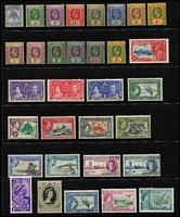 Lot 60 [1 of 3]:Pacific Islands incl Cook Islands, Fiji, Gilbert & Ellice KGV 2/-, 2/6d, 5/-, Nauru 1954 Picts (9), 1966 Picts (14), 1968 Pict Opts (14), Niue 1950 Picts (10), Norfolk Island, Pitcairn Islands 1940-51 4d & 8d (MUH), Samoa 1921 Huts (16), Br. Solomon Islands 1922-31 2/-, Tonga, also MUH Christmas Island 1958 Defins (10), 1963 Picts (10). Condition is mixed. Several issues have no gum. (500+)