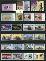 Lot 73 [2 of 5]:Pitcairn Islands 1940-1990 Collection on 28 Hagners incl 1939-51 Picts (10, MLH), MUH from 1967 Decimal opts to 1995 Oeno Island, incl 1984-88 Fish (15), etc. Generally fine. Retail $1,100. (Few 100)