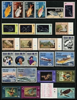 Lot 64 [1 of 3]:Pitcairn Islands 1940-1990 Collection on 28 Hagners incl 1939-51 Picts (10, MLH), MUH from 1967 Decimal opts to 1995 Oeno Island, incl 1984-88 Fish (15), etc. Generally fine. Retail $1,100. (Few 100)