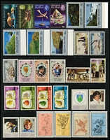 Lot 65 [3 of 3]:Pitcairn Islands 1967-95 Collection on 20+ Hagners almost complete from 1967 Bligh to 1995 Marconi incl 1984-88 Fish (13), 1995 Birds (12). Retail $760. (Few 100)