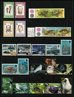 Lot 65 [1 of 3]:Pitcairn Islands 1967-95 Collection on 20+ Hagners almost complete from 1967 Bligh to 1995 Marconi incl 1984-88 Fish (13), 1995 Birds (12). Retail $760. (Few 100)
