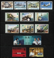 Lot 61 [2 of 2]:Pitcairn Islands 1994-99 Commem selection. Retail $280+. (65 & 8 M/Ss)