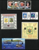 Lot 61 [1 of 2]:Pitcairn Islands 1994-99 Commem selection. Retail $280+. (65 & 8 M/Ss)
