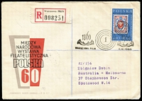Lot 36 [2 of 6]:Poland 1950s-80s FDC and unused postal stationery collection incl 1957 Nat. Philatelic Exhib M/S (2), 1958 400th Anniv of Postal Service, 1960 Olympics & Costumes (few imperf), (4 Sep) Stamp Exhib 10a+10z (2), 1961 Intermess, etc, few registered, many unaddressed, few Papal stationery cards, also a few (8) 1922-25 Esperanto related covers. Generally fine. (Few 100)