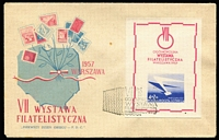 Lot 36 [3 of 6]:Poland 1950s-80s FDC and unused postal stationery collection incl 1957 Nat. Philatelic Exhib M/S (2), 1958 400th Anniv of Postal Service, 1960 Olympics & Costumes (few imperf), (4 Sep) Stamp Exhib 10a+10z (2), 1961 Intermess, etc, few registered, many unaddressed, few Papal stationery cards, also a few (8) 1922-25 Esperanto related covers. Generally fine. (Few 100)