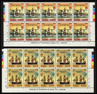 Lot 39 [2 of 4]:Samoa 1977-82 Issues on 40 Hagners in imprint or Plate blocks of 4, 6, 8 or 10 incl 1978 Hawksbill Turtles (4 sets), Cook (10 sets), 1978-80 Shells (8 sets plus additional $2 (2), $3 (2) & $5 (2)), 1980 & 81 Ships (10 sets of each). Retail $600+. (750+ &14 M/ss)