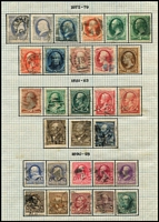 Lot 76 [1 of 4]:USA 1870s-1952 Collection incl few earlies, 1898 Columbian 4c, 6c, 8c, 1901 Pan-American Exposition (6), 1902-08 to 50c, 1913-15 Panama Canal (5), 1920 Pilgrim Fathers (3), 1922-33 to $5, 1928 Hawaii/Pitcher Opts (3), numerous other low value commems & defins. Generally fine. (100s)
