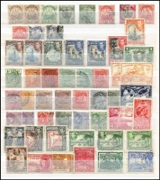 Lot 91 [3 of 4]:World in 32 page stockbook incl Australia few Roos & KGV to 5d (8), Bermuda, Br. Guiana, Canada, Cape of Good Hope, Ceylon, Hong Kong, India & States, Jamaica, Malayan States, Sierra Leone, etc. Generally fine. (100s)