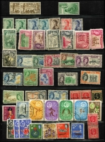 Lot 58 [3 of 3]:World in 5 albums on Hagners, etc, incl Arab States, Belgium, Cyprus, Fiji incl 1954-59 10/-, £1, Ivory Coast, Maldives, Malta, Mauritius, Mexico, Nigeria KGV 1936 5/- (MLH), Paraguay, Spain & Colonies, Vatican, etc. Mixed condition. HEAVY LOT (7kg+) (100s)