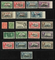 Lot 60 [1 of 6]:World incl Falkland Islands few KGVI Picts to 9d, Dependencies 1944-45 Opts for Graham Land (8) & South Orkneys (8), (the other 2 sets are both missing the 1d value), Great Britain selection of 1980s-90s Defins & Booklet panes on FDCs, South Africa few bi-lingual pairs, Booklet panes, few SWA opts, etc. Few other covers. Mixed condition. (170+ & 40 covers)