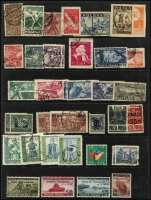 Lot 62 [1 of 4]:World on 60 Hagners incl Austria, Burma, Ceylon, Egypt, GB, Kampuchea, New Zealand, Poland 1944 Capture of Monte Cassino (4, MUH), Southern Nigeria 1901-02 2d & 10/- (no gum) optd 'SPECIMEN'. Also album of East Germany remnants. Generally fine. (100s)