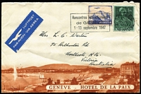 Lot 83 [1 of 3]:World in small box, some Africas, Europe with France 1853-61 imperf 80c (fault), Heligoland, Switzerland 1947 advertising envelope for Hotel de la Paix, Geneva, Ukraine several unissued 1920s stamps. etc. Mixed condition. (Few 100  )