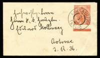 Lot 97 [3 of 9]:World Covers 1865-2001 many commercial incl Austria, Belgium 1910 registered to Philippines, France, Italy 1865 cover (faults) to GB with 20c on 15c (3, a pair & a single), Netherlands 1940 Censored 'Express Airmail' to GB, 1952 ITEP FDC, Spain WWII Censored cover to GB, 1940 Cafe advertising cover to Switzerland, Switzerland 1943 double Censored airmail cover to GB. etc. Few modern FDCs. Mixed condition. (Approx 80)