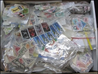 Lot 69:World In Archive Box loose, in packets, etc. Could be anything in here. HEAVY LOT. (10kg). (1,000s)