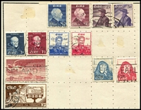 Lot 20 [2 of 3]:World in Rapkin Quickchange Album incl China, France, Germany incl few perfins, GB, Hungary, Ireland incl 1957 Redmond (2), Admiral Brown (2), Wadding (2), Spain, USA, etc, plus an old Embassy album. Mixed condition. (100s)