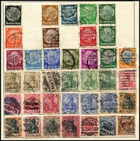 Lot 20 [3 of 3]:World in Rapkin Quickchange Album incl China, France, Germany incl few perfins, GB, Hungary, Ireland incl 1957 Redmond (2), Admiral Brown (2), Wadding (2), Spain, USA, etc, plus an old Embassy album. Mixed condition. (100s)