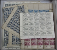 Lot 101 [1 of 3]:World in Sheets or part sheets of low values incl Germany some inflation issues, Japanese Occup. of Malaya, Paraguay, South Africa, South West Africa, Spain. Mixed condition. (100s )