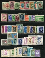 Lot 89 [2 of 5]:World on 30+ Hagners incl Bavaria, Czechoslovakia, Denmark, Finland, Greece, Ireland 1940-68 10/- (7, incl block of 6 all with purple cancels), Luxembourg, Netherlands & Indies, Norway, Portugal, Romania, Russia, Spain, Sri Lanka, Switzerland, etc. Mixed condition. (100s)