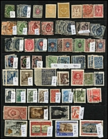 Lot 89 [3 of 5]:World on 30+ Hagners incl Bavaria, Czechoslovakia, Denmark, Finland, Greece, Ireland 1940-68 10/- (7, incl block of 6 all with purple cancels), Luxembourg, Netherlands & Indies, Norway, Portugal, Romania, Russia, Spain, Sri Lanka, Switzerland, etc. Mixed condition. (100s)
