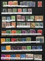 Lot 89 [1 of 5]:World on 30+ Hagners incl Bavaria, Czechoslovakia, Denmark, Finland, Greece, Ireland 1940-68 10/- (7, incl block of 6 all with purple cancels), Luxembourg, Netherlands & Indies, Norway, Portugal, Romania, Russia, Spain, Sri Lanka, Switzerland, etc. Mixed condition. (100s)