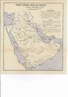 Lot 100 [1 of 2]:Middle East: Family tree or pedigrees of the Ál Sa'ud, Al Rashíd, & Al Hathlain (or Hithlain) Families, also chart showing names of Shaikhs (Dushan) of Mutair ('Ilwa), plus 4 maps of the area incl 'Rough Tribal Map of Arabia', Map of Kuwait Hinterland & North Central Arabia. All c1935. Few tone spots. (9 items)