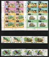 Lot 439 [1 of 2]:1970s-90s several sets in pairs incl 1979 Endangered Wildlife or blocks incl 1979 Indian Arrivals (10 sets), SPC Games (8 sets), etc. Retail approx $200. (280+ & 2 M/S)
