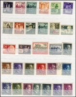 Lot 443 [3 of 4]:1870s-1945 Collection incl few earlies, Germanias, Officials, 1934 Airs (11, incl 2m & 3m Count Zeppelin), some Inflation values, good range of Occupation issues from WWI or WWII incl Austria, Belgium, Bohemia & Moravia, Lothringen, Luxembourg, Ostland, Poland, Ukraine, plus a selection of German Colonies with 'Lost Colonies' labels, various Yachts from Cameroun, China, German East Africa incl battered unused 7½h Postal card, Kiautschou, Samoa, etc. Generally fine. (850)