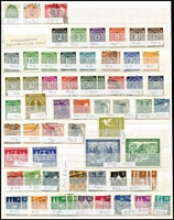 Lot 471 [3 of 4]:1880s-1990s Collection in album, few earlies, range of Inflation issues, various pre-war issues, few perfins, Allied Zones, West Germany incl 1951-52 Posthorn 70pf, West Berlin, few commems & defins, East Germany. Inrteresting lot. Mixed condition. (100s)